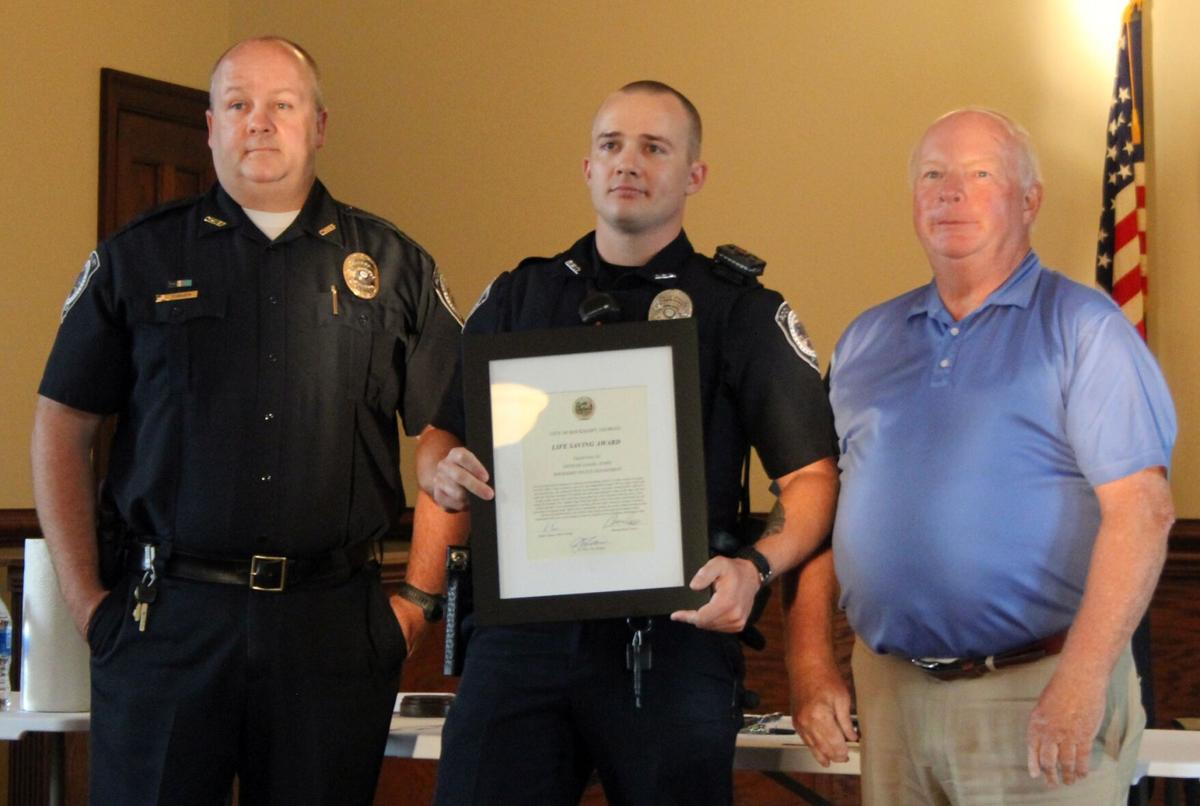 Rockmart Council honors police officers at September meeting