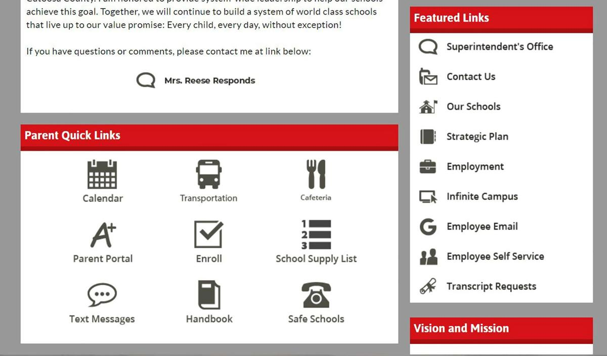 CCPS New Web Site Quick Links
