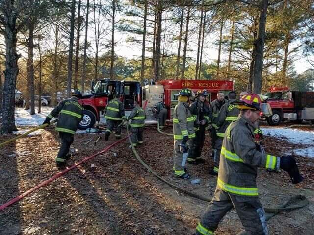 Polk Fire hard at work
