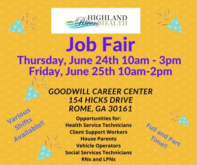 Highland Rivers Job Fair