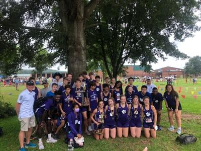 Darlington Cross Country team at Rockmart Early Bird Tune-Up
