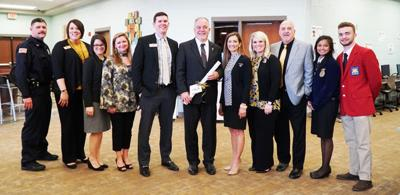 State School Superintendent Woods visits Calhoun