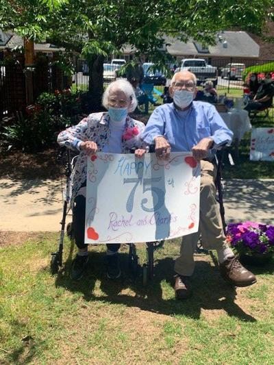 Couple celebrates 75 year wedding anniversary at Winthrop Court nursing home