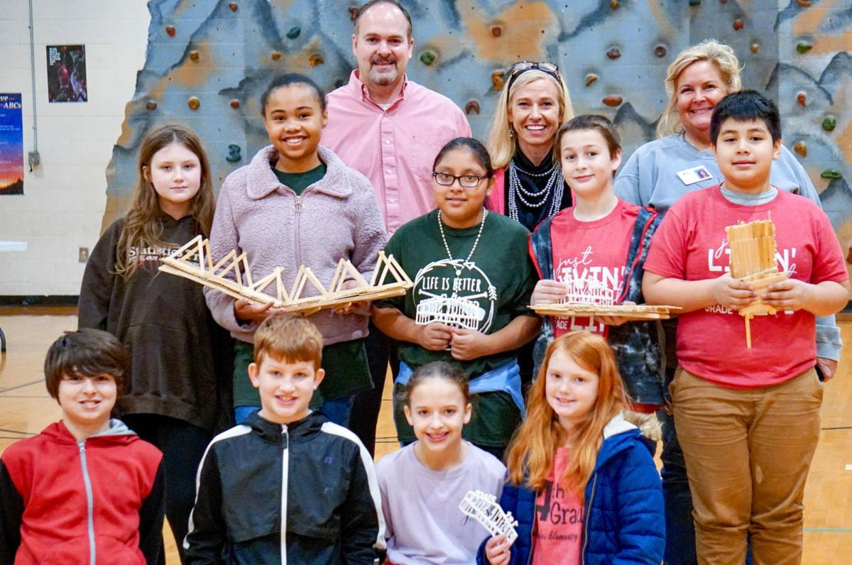 GLES teams win fourth annual FCS popsicle stick bridge challenge