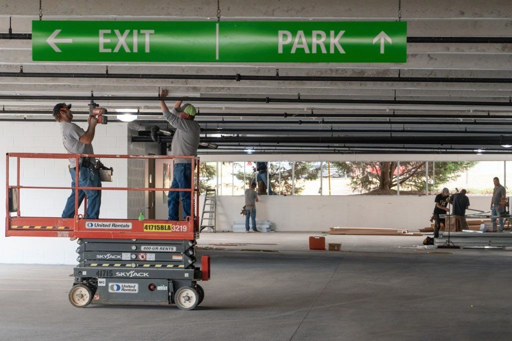 Floyd Medical Center converting lower level of parking deck into emergency facilities