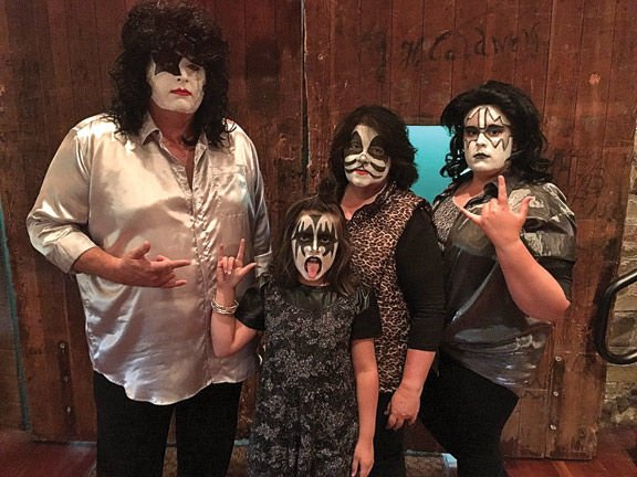 Catoosa sheriff and family as Kiss