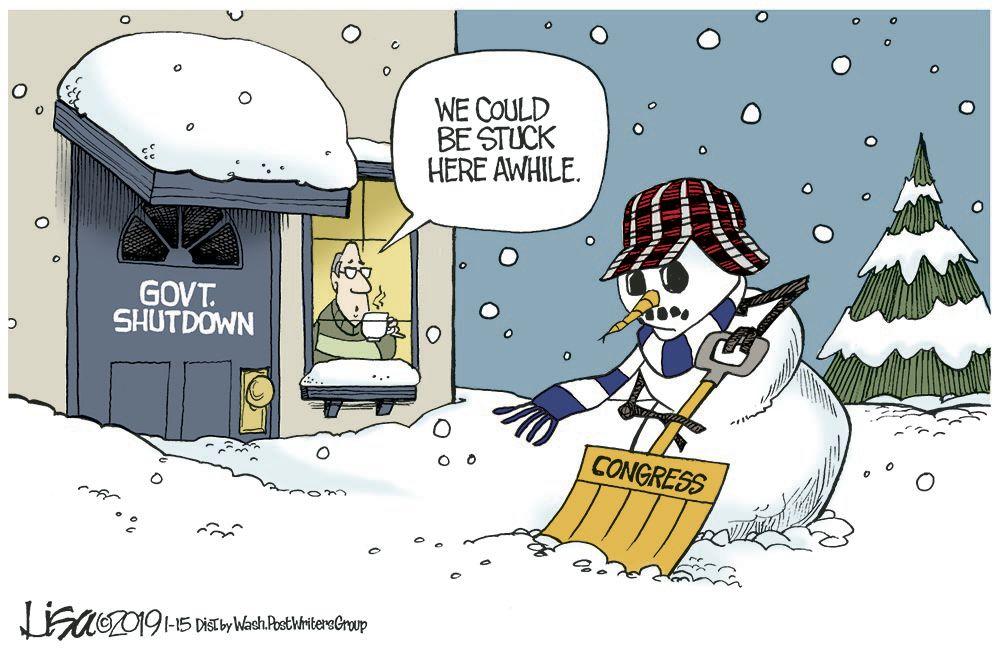 Shutdown snowman