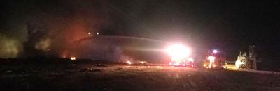 Walker landfill fire