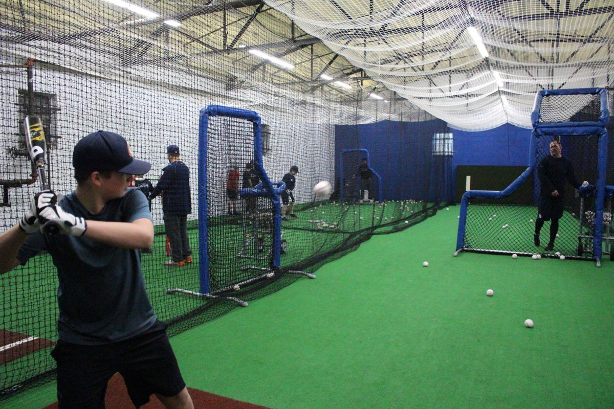 Charlie Culberson and Major League Baseball scouts visit batting clinic at Double Day Sports Academy