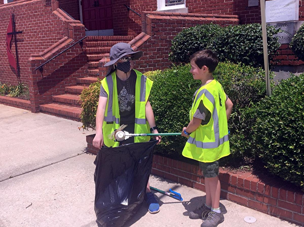 Scouts join Keep Rome-Floyd Beautiful for cleanup in River District