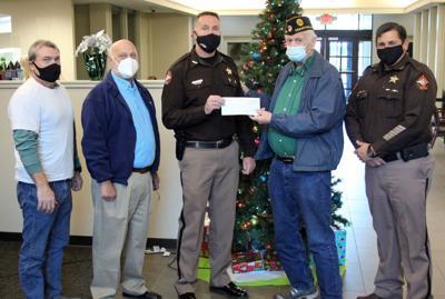 Cedartown Legion presents check to Sheriff's Office Toy Express fund