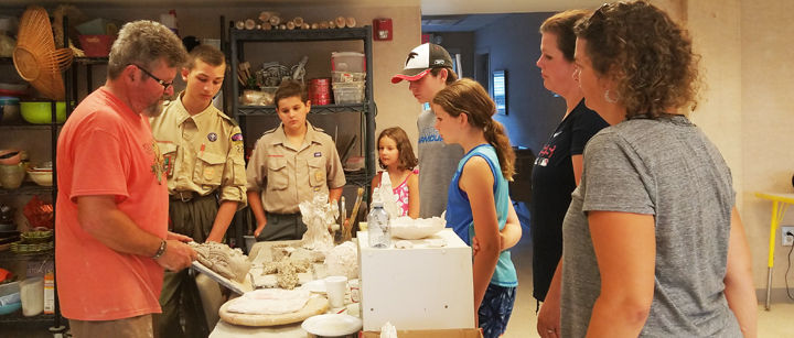 Local Scouts earn Pottery merit badge