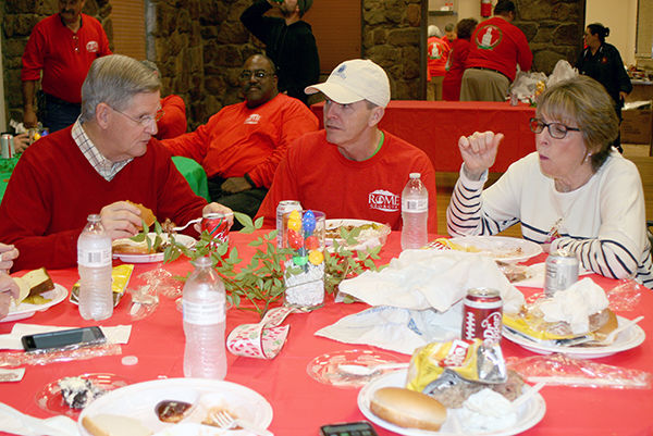 Christmas barbecue brings cheer to city employees