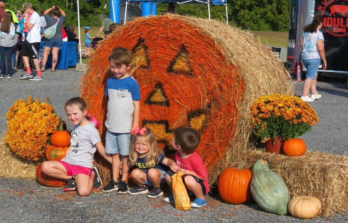 Catoosa Fall Festival giant hay pumpkin
