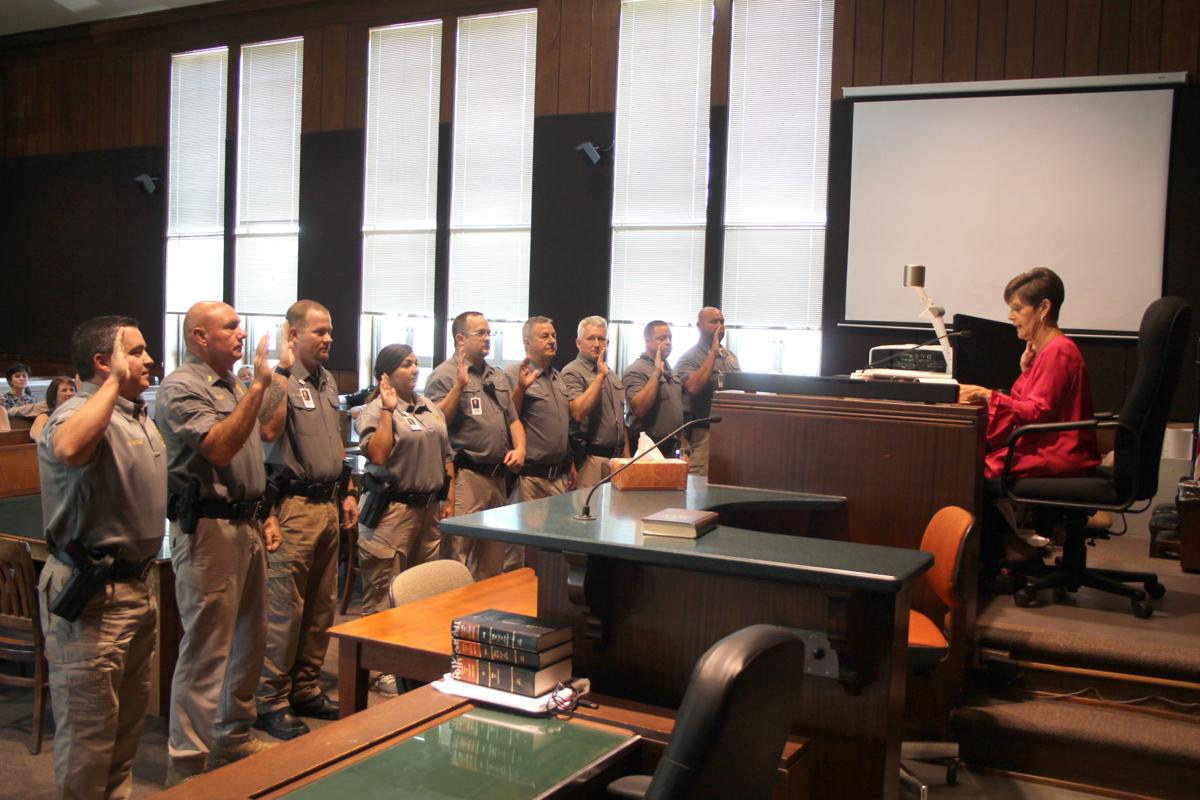 Polk School District Police Department swearing in ceremony