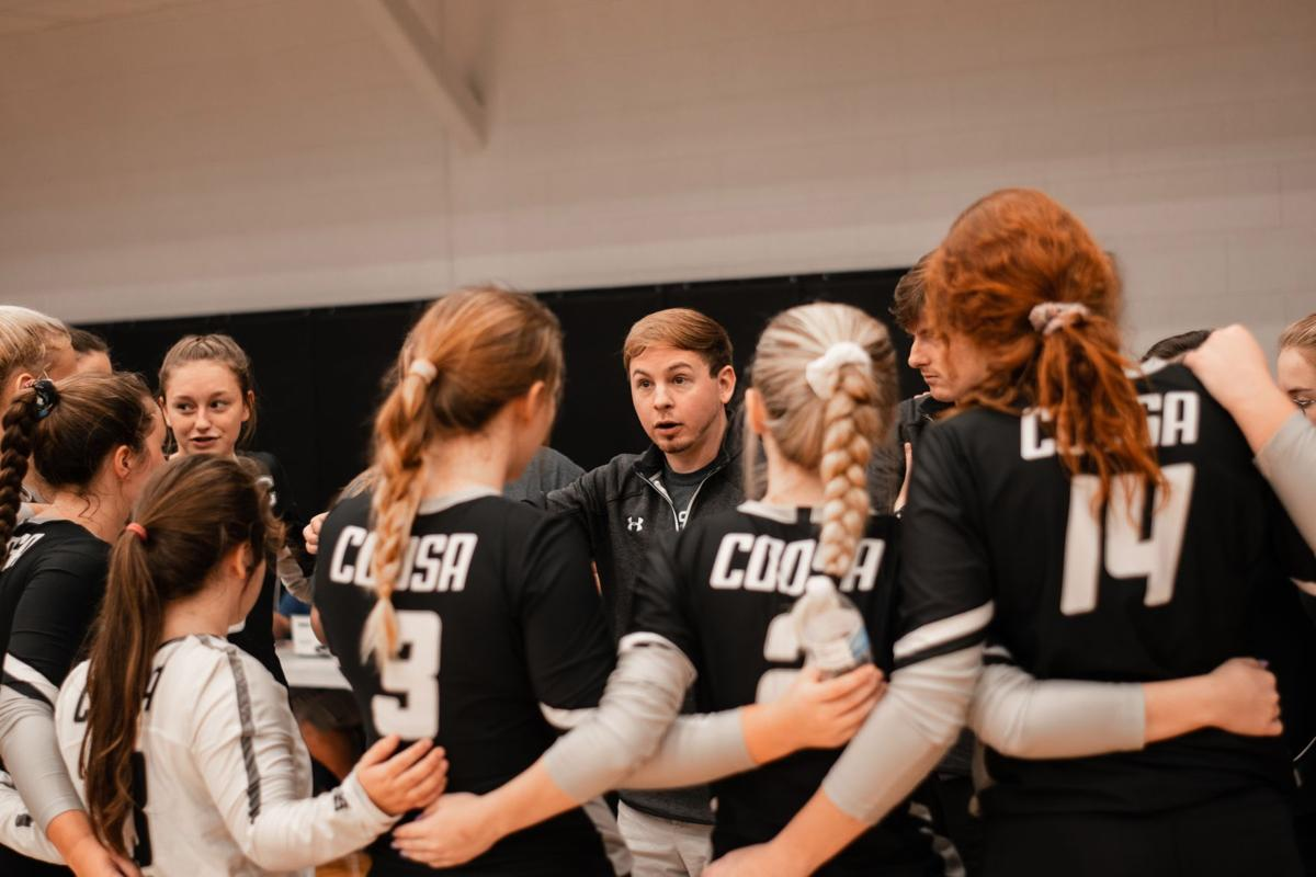 Nic Hann as head coach of Coosa Volleyball