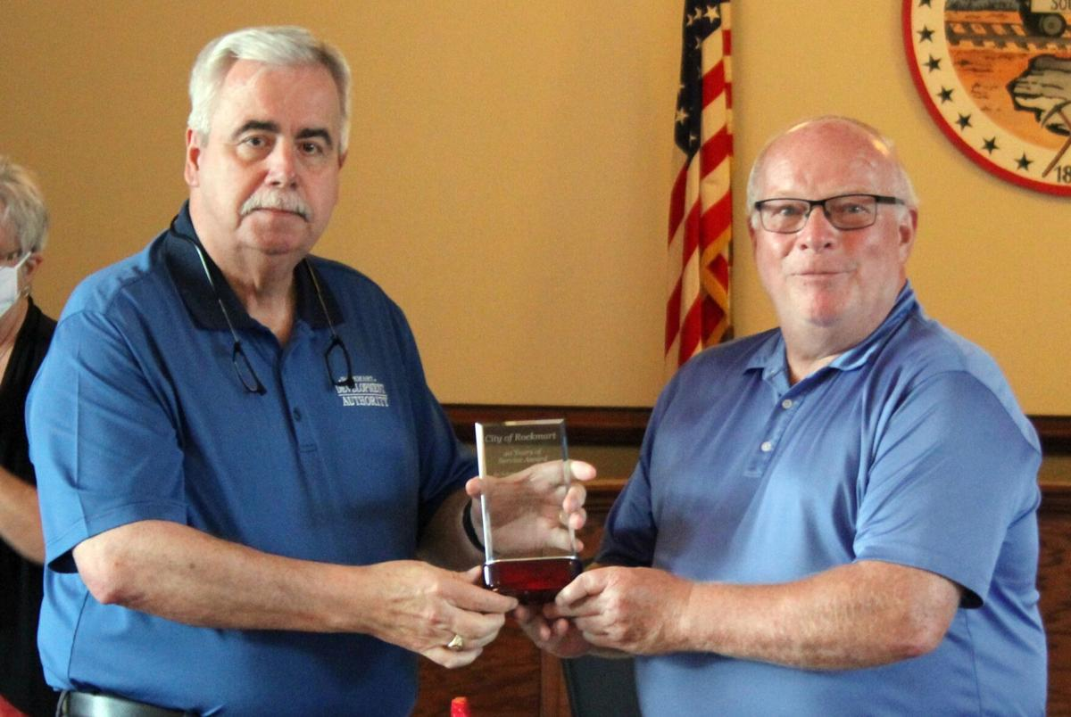 Rockmart City Council honors employees for service milestones