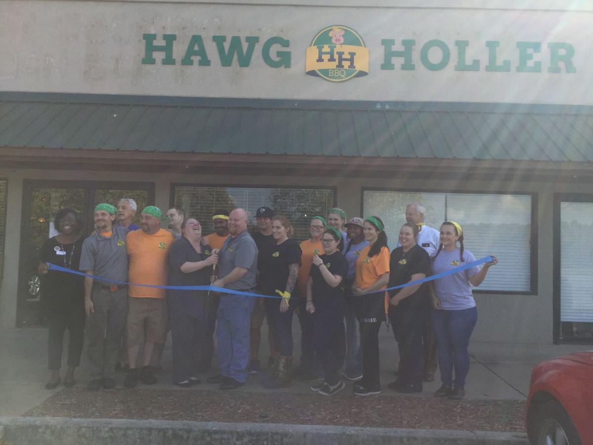 Hawg Holler Chamber ribbon cutting