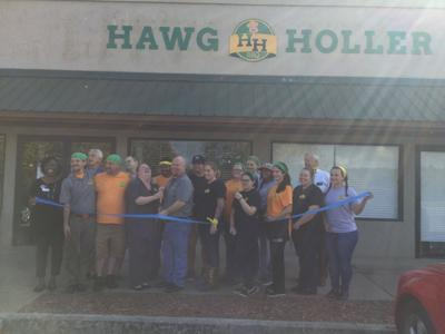 Hawg Holler Chamber ribbon cutting