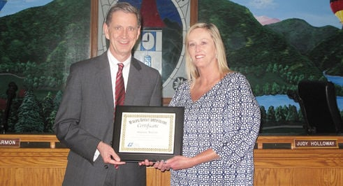 Nelson receives Municipal Revenue Administration Certificate