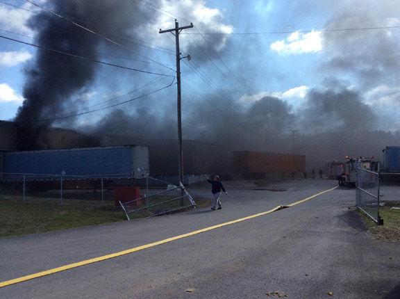 Factory fire in LaFayette