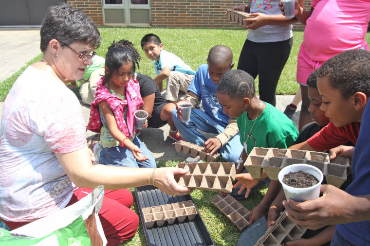 North Heights Elementary planting