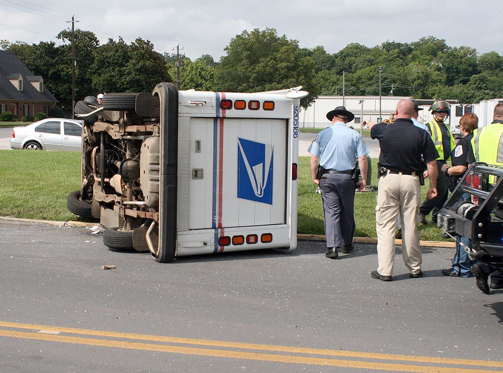 Mail Truck Flipped In Wreck Police Fire News