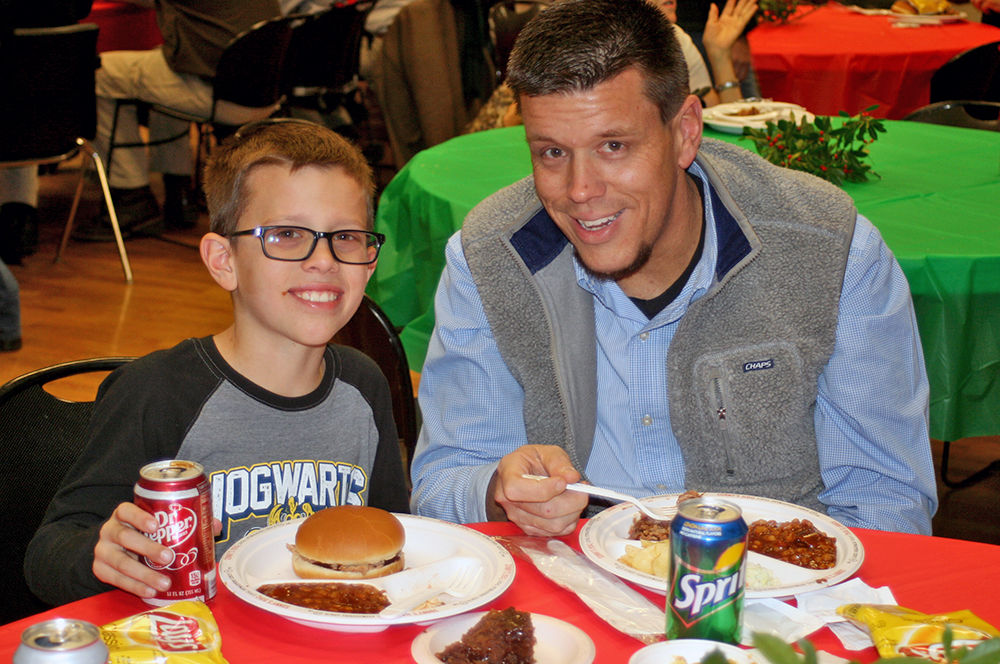 City employees enjoy annual City Christmas Barbecue at the Civic Center