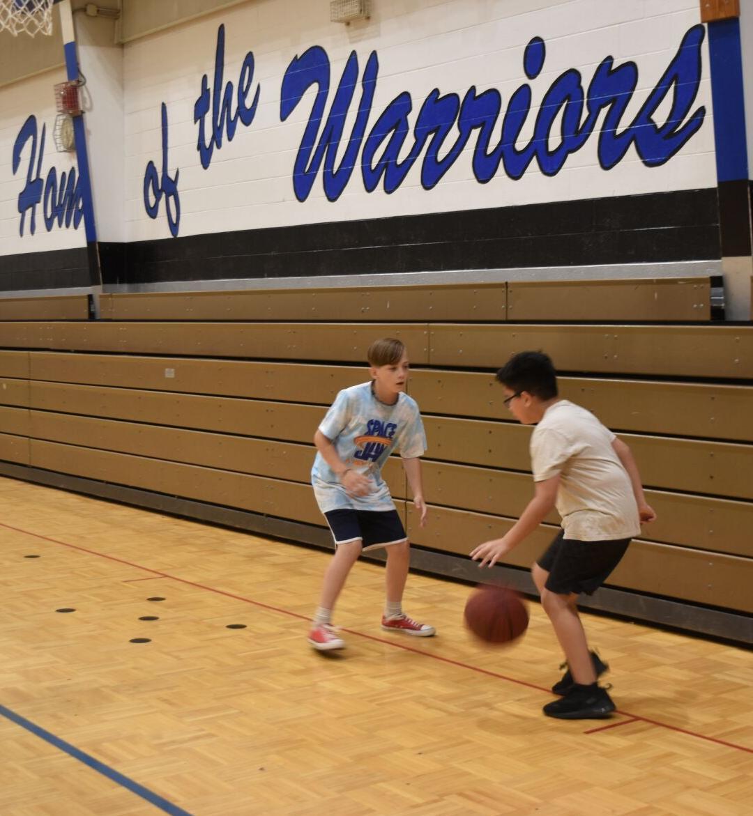 Ashworth Middle holds summer basketball camp
