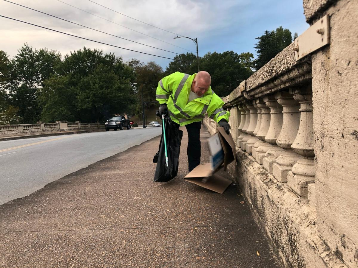 City employees join Keep Rome Floyd Beautiful for Myrtle Hill cleanup