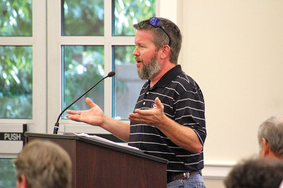 Keith Fairchild addresses commissioners