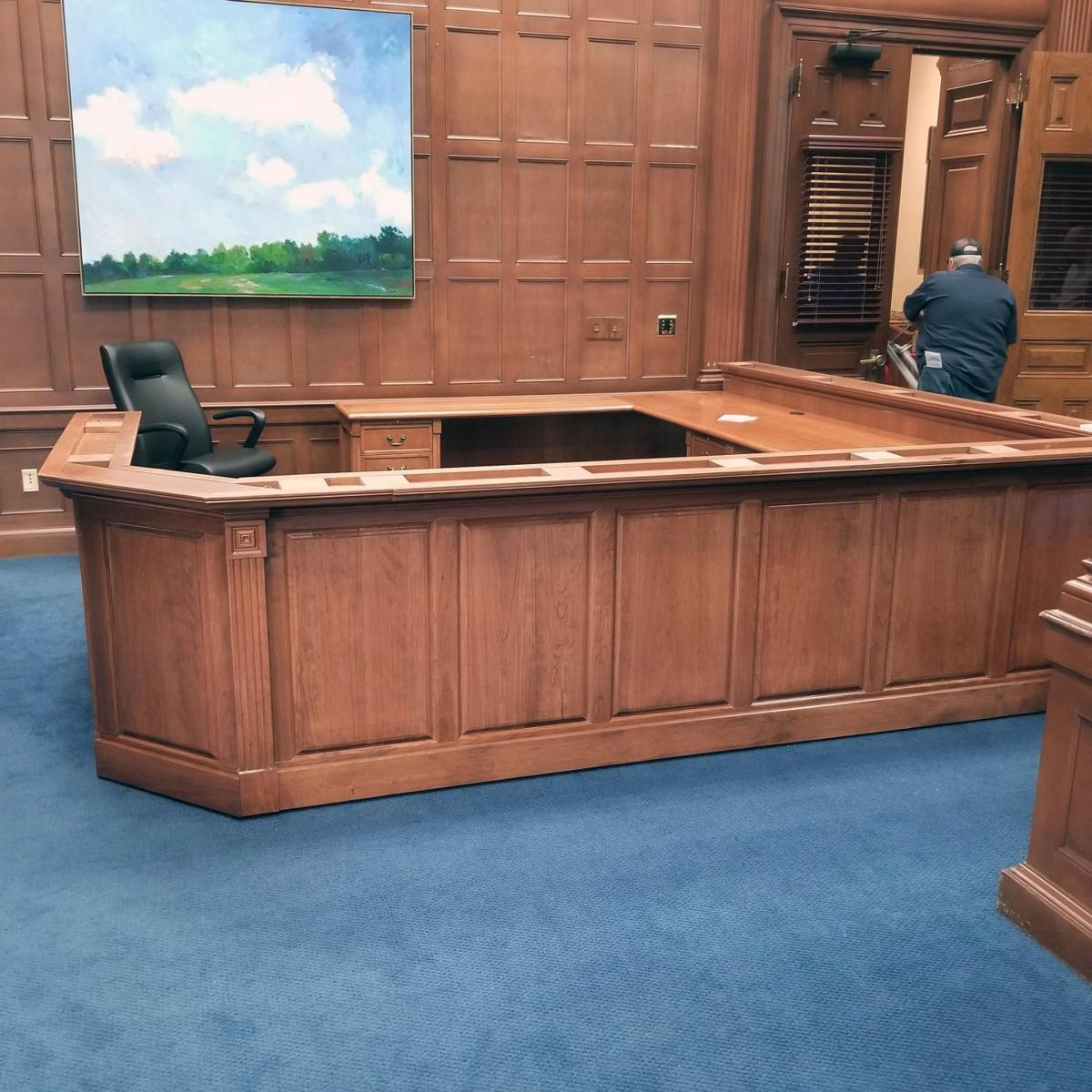 GNTC student designs desk for governor's office