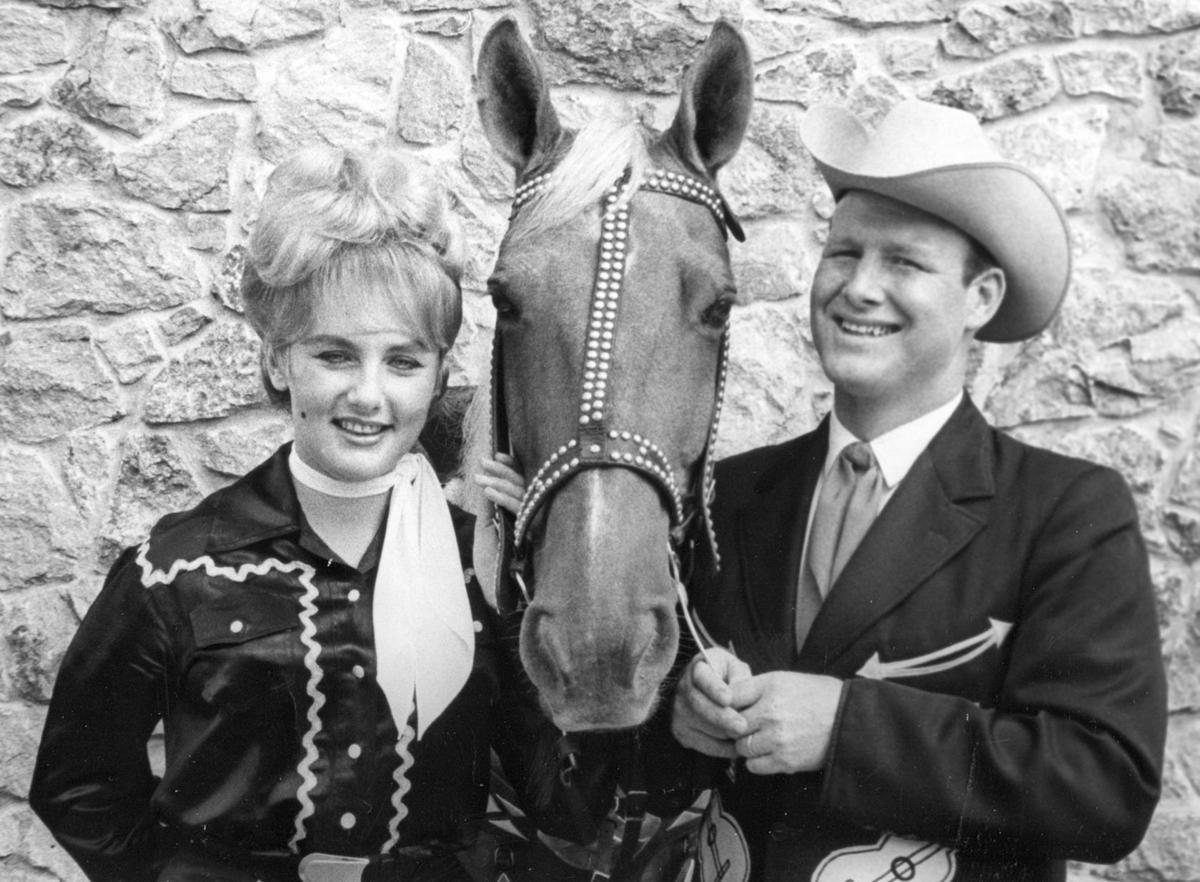 Ingrid and Bob Brandy, with Rebel