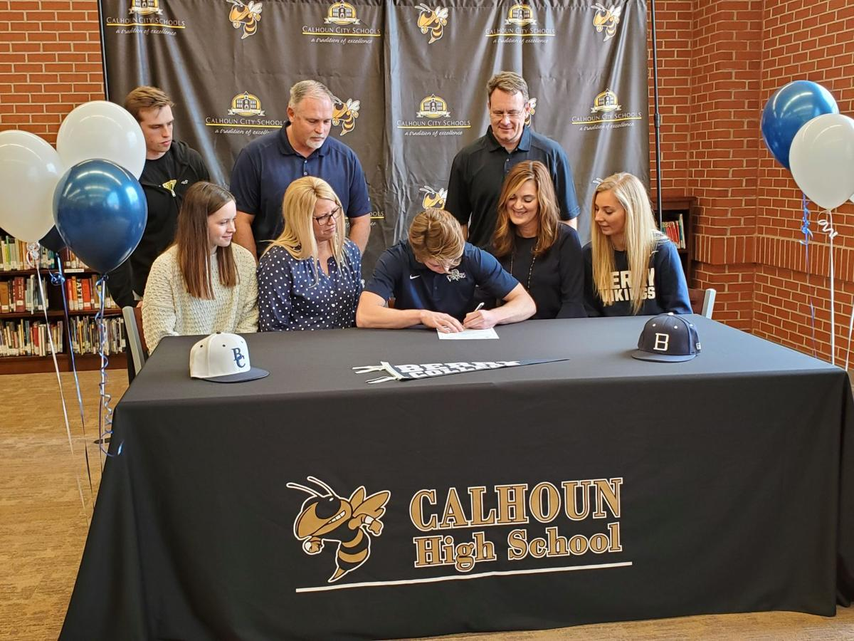 Ethan Crump signs baseball scholarship with Berry College