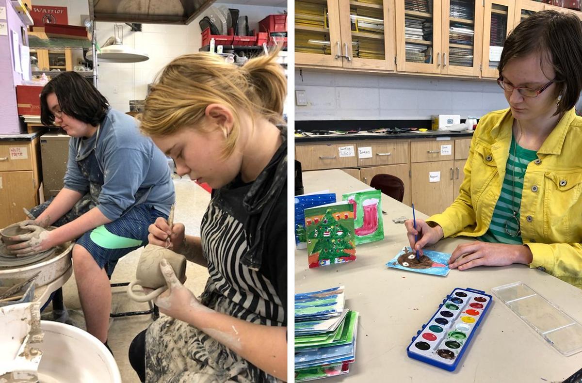 LFO students doing art