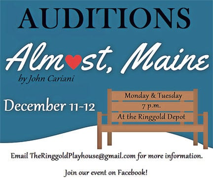 """""""Almost, Maine"""" auditions"""