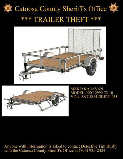 Utility trailer stolen from Rossville residence