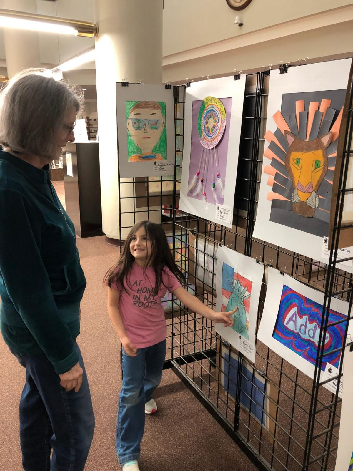 Student art on display at Rome-Floyd County Library
