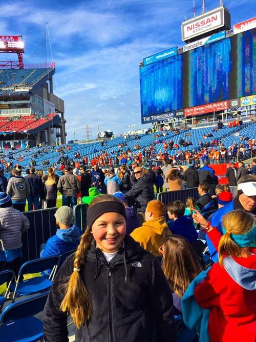 Kenzie Campbell recently had the opportunity to live out every kid's dream that loves football.