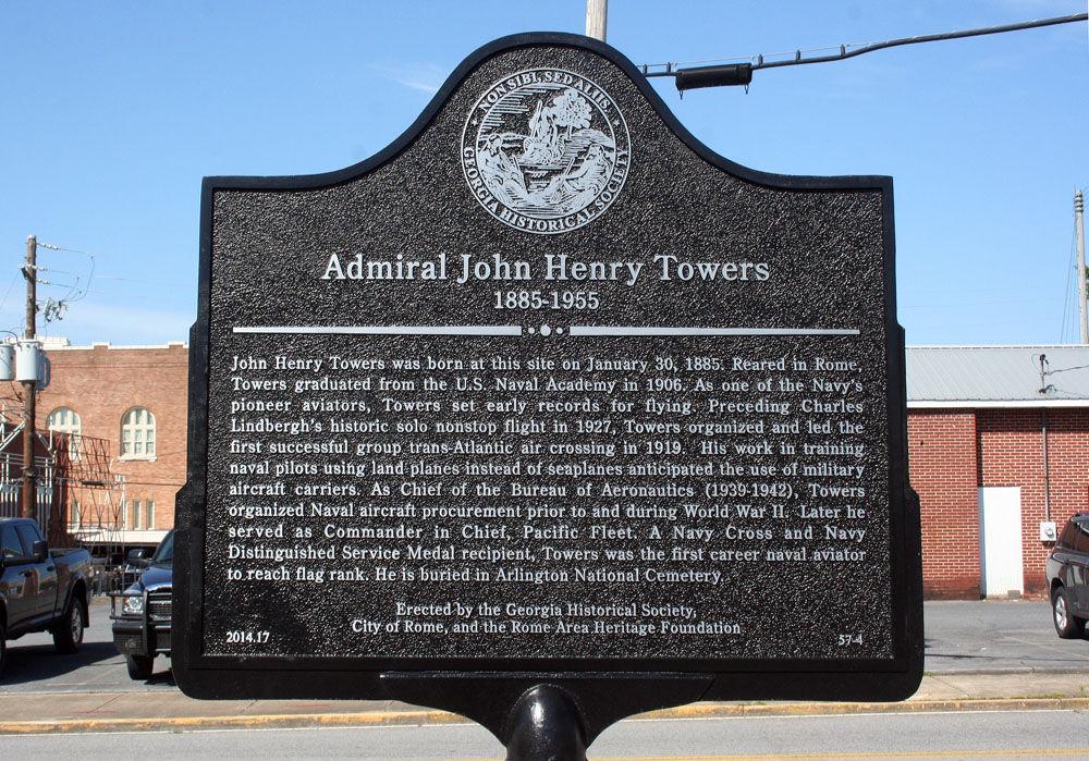 Adm. John Towers marker