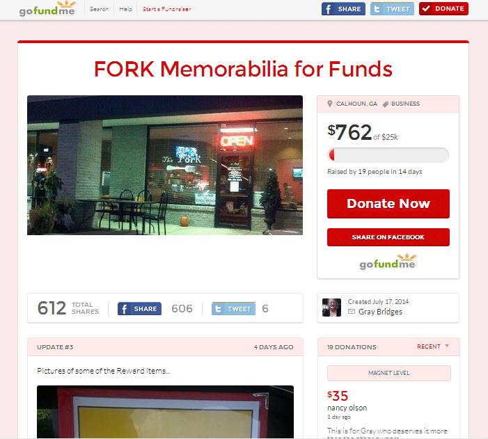 The Fork's GoFundMe.com page