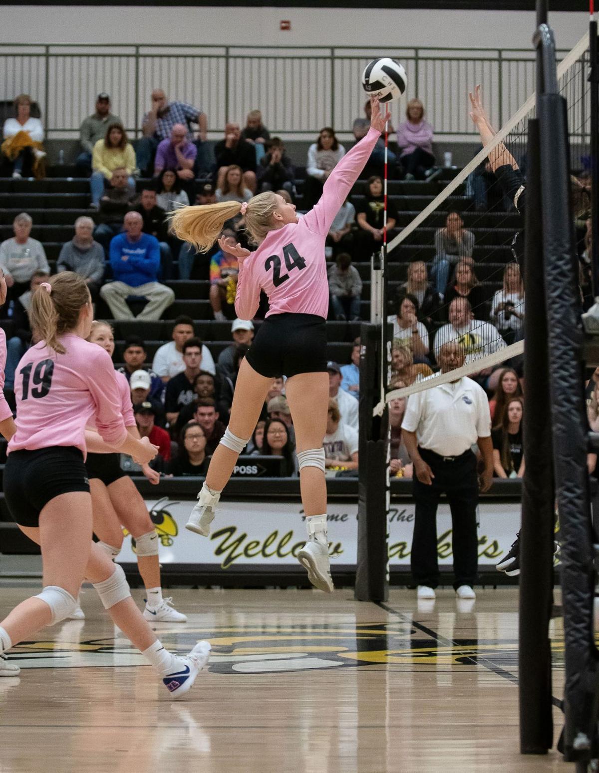Calhoun Volleyball Playoffs - Reilly Fain