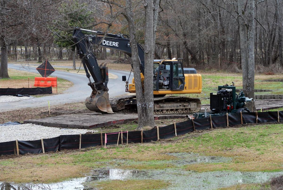 Work on new natural gas pipeline slicing through Ridge Ferry Park