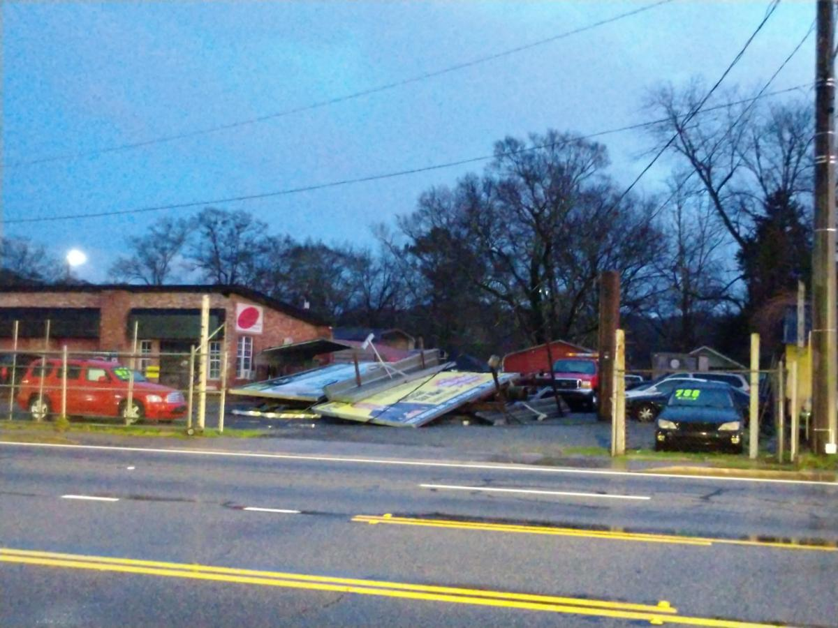 Storm leaves trail of damage around the county
