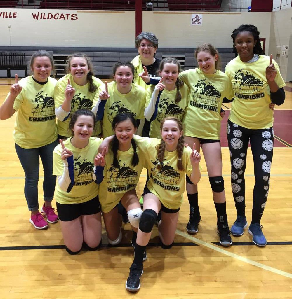 Rome Area Volleyball Club's 13-year-old team