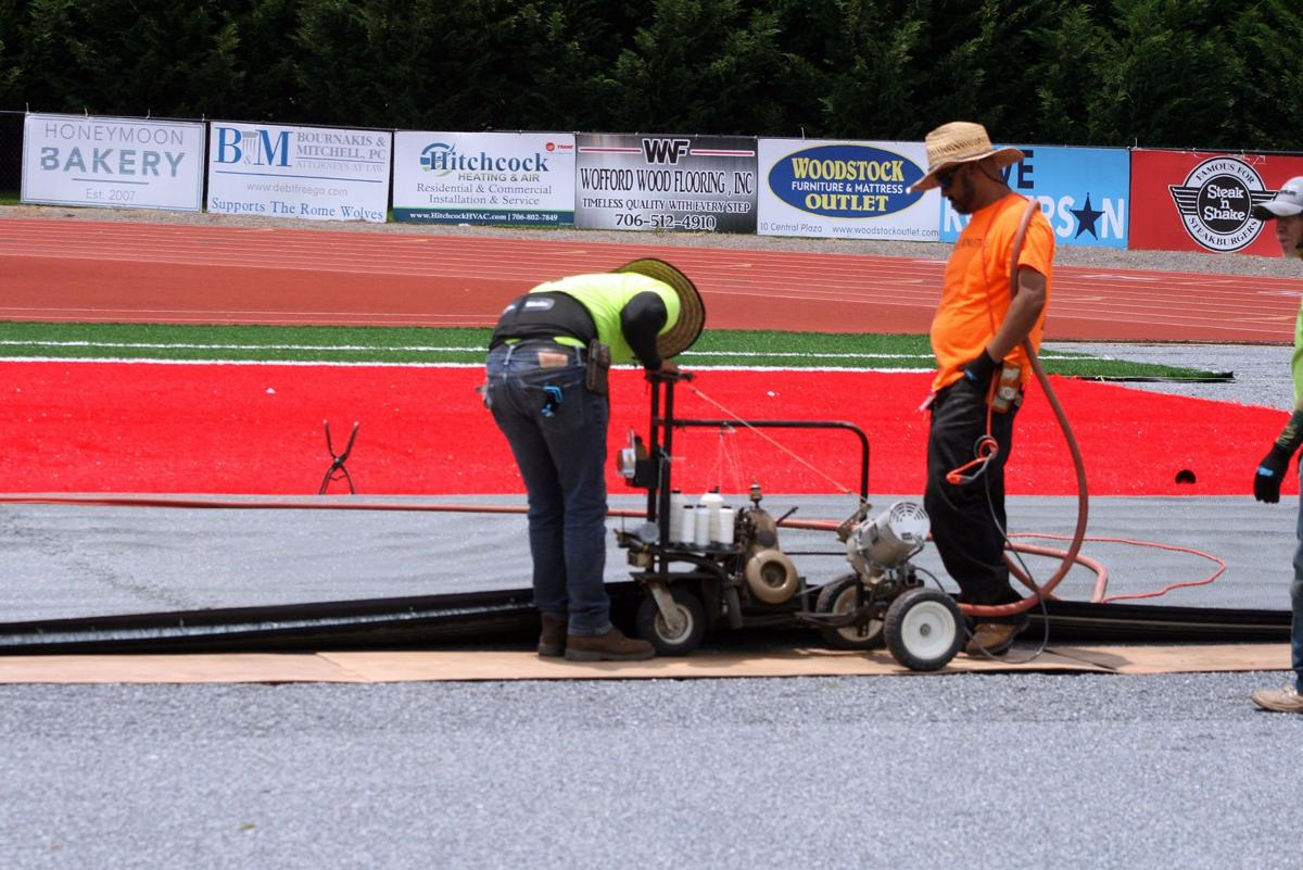 Installation of new turf at Barron Stadium to take about three weeks