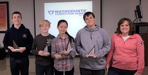 Heritage Middle School MATHCOUNTS team