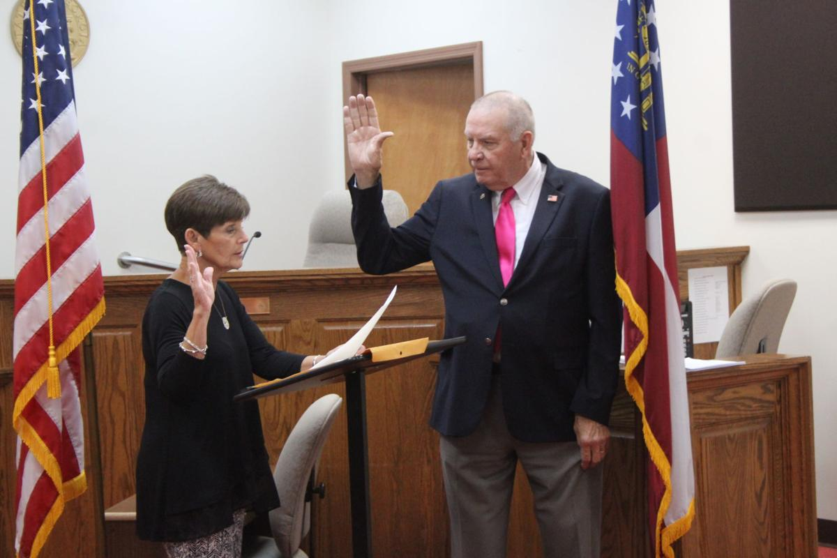Hal Floyd swearing in ceremony