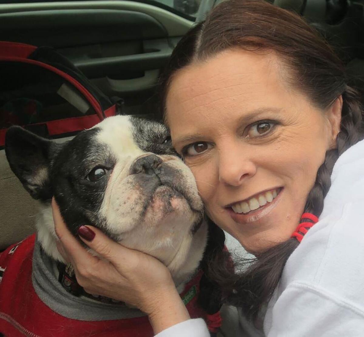 Vet Dr. Jennifer Eachus with dog
