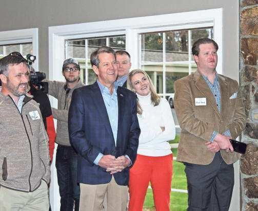Gov. Kemp visits Dalton to thank supporters